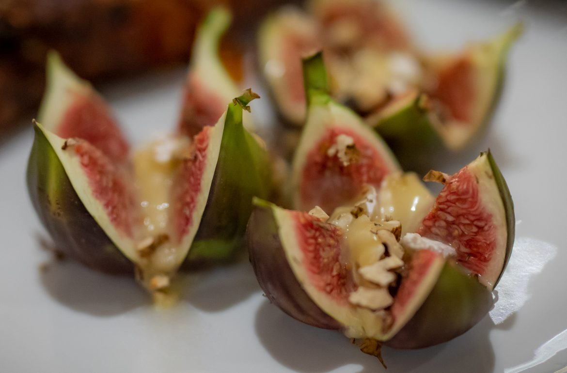 Baked Figs with Clemency Hall Brie De Meaux Rouzaire (AOC)