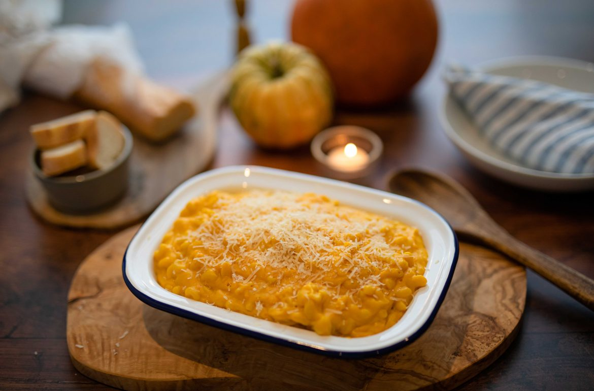 Pumpkin Mac n' Cheese with Keens Cheddar & 24 Month Parmigiano Reggiano